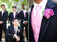 Men in pink <3 only pink roses would look way better :)