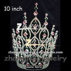 large crowns | Large Pageant Crown Diamond Queen Crown Photo, Detailed about Large ...