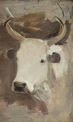 , Farm Paintings, Modern Art Paintings, Animal Paintings, Bull Painting, Knife Painting, Cow Pictures, Smart Art, Cow Art, Cattle