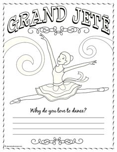 Princess Camp Grand Jete Ballet Crafts Dance Ballerina Coloring Pages