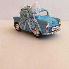 Mavi Vintage Araba Nikah Şekeri yan görünümü ...