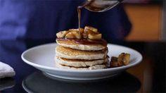 Vegan Gluten-Free Banana Rum Pancakes