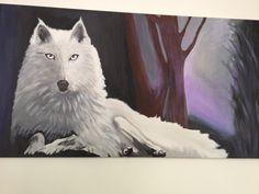 lupo bianco nella foresta incantata