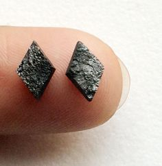 Black Raw Diamond Black Diamond Matched Pairs by gemsforjewels
