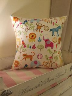 Handmade 16inch Cushion Cover.Made From Jungle Boogie Designer Fabric