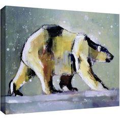 ArtWall Mark Adlington Ice Bear Gallery-Wrapped Canvas, Size: 36 x 48, Blue