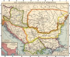 Roman provinces of Illyricum, Macedonia, Dacia, Moesia, Pannonia and Thracia - Taurisci - Wikipedia Roman Empire Map, Christian Religions, Byzantine Art, Early Christian, Old Maps, Prehistory, Historical Maps, Ancient Romans, North Africa