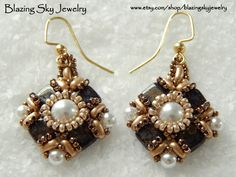 Beading Tutorial Grace Earrings Beading by BlazingSkyJewelry
