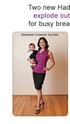 "Clothes that don't scream ""I'm breastfeeding?"" Hadley Stilwell's Sleeveless Crossover Top Set"