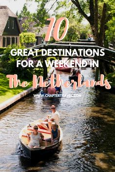 Do you feel like going on a trip? In this article you can find weekend ideas for the Netherlands and it doesn't include Amsterdam! There are plenty of other amazing destinations in this tiny country. Start planning your weekend away in the Netherlands. Whether you're looking for a relaxing weekend or a weekend of exploring, everything is possible! #Netherlands #weekendtrip #wanderlust