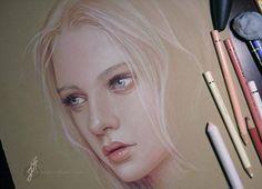 'Portrait of Nastya Kusakina' by Jennifer Healy (United States). via MyAmbeon/ Beautiful Burden Arts