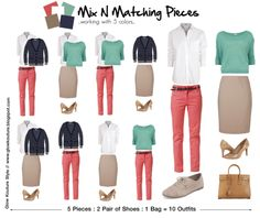 Mix N Matching Pieces : 5 Items = 10 Outfits  by    Kenye Meeko @ glowkouturestyle.com
