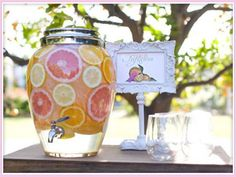 Pinterest party drink bars | Found on cachicdesign.com