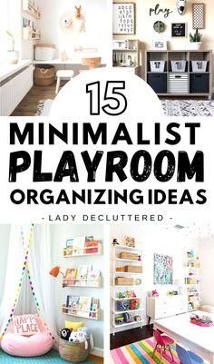 If you enjoy taking a minimalist approach to your home and life, then you may want to check out these 15 minimalist playroom ideas. From clever toy organization, decor ideas, and tons of DIY playroom options there is no reason why you can't create a minimalist playroom you and your kids will love. #ladydecluttered #minimalistplayroom #playroomorganizationideas #playroomDIY #playroomdecoratingideas #toyorganization #howtoorganizeaplayroom Playroom Layout, Ikea Kids Playroom, Playroom Shelves, Playroom Decor, Playroom Ideas, Playroom Design, Toddler Playroom, Playroom Printables, Toy Room Organization