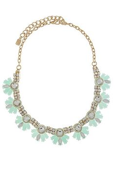 mint statement necklace available soon at www.lulu-le.com