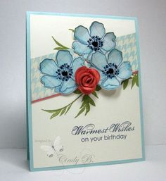 Stampin up Fabulous Florets, Blooming with Kindness By Cindy Beach - Stamps, Paper and Ink