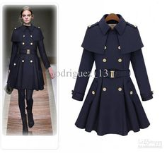 Wholesale Trench Coats - Buy South Korea Cultivate One's Morality Cloak Tweed Coat Trench Coat British Wind Skirt Pendulum S XXL 85