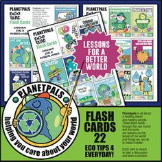 Earth Day Eco Tips Fun FLASH CARDS 22 Cartoons Science Lessons Distance Learning Funny punny playful cute. Earth Science Lessons, Science For Kids, Elementary Science, Interactive Activities, Classroom Activities, Classroom Tools, Classroom Decor, Activity World, Friendship Activities