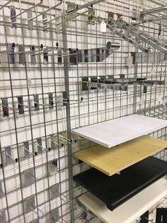 Low Cost mesh panel system. Ideal for many retail displays such as fashion /clothes / fancy goods etc  Mesh panels sold singular or in a freestanding gondola unit or triangle unit. Massive range of gridwall hooks / shelves in stock to suit all your products