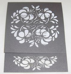 Beautiful laser cut invitation that can be customized for many different occasions. Laser Cut Hibiscus Invitation Perfect for a by DecorateYourBigDay, $3.00