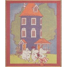 FinnStyle Moomin house throw blanket...