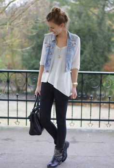 nice How to wear a vest in school outfits