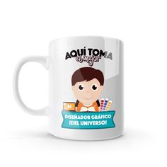 Mug - Aquí toma el mejor diseñador del universo, encuentra este producto en nuestra tienda online y personalízalo con un nombre o mensaje. Chocolate Caliente, Snoopy, Mugs, Tableware, Character, Social, Art, Dietitian, Occupational Therapist
