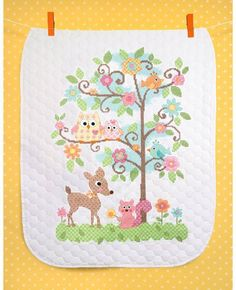 Happi Tree Quilt - Stamped Cross Stitch Kit
