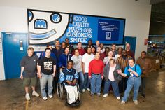 """""""Goodwill Quality Makes Our Customers Smile."""" #Goodwill employees come to work with a smile every day to give 110% on the job."""
