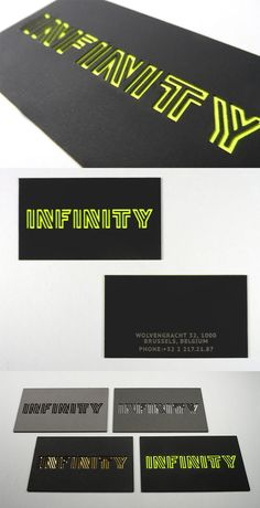 This business card design uses a clever combination of laser cutting and duplexing to create a card which has texture, colour and lots of impact.