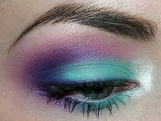 purple, aqua & pink shadows