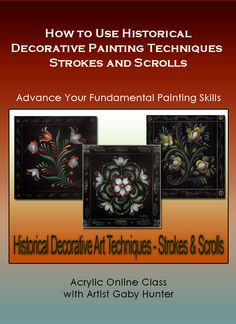 Art Apprentice Online - Historical Art Painting Techniques - Strokes and Scrolls - Acrylic - Online Painting Class, $49.95 (http://store.artapprenticeonline.com/historical-art-painting-techniques-strokes-and-scrolls-acrylic-online-painting-class/)