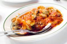 Don't Leave Bamonte's Without Ordering Fra Diavolo and...Potatoes?