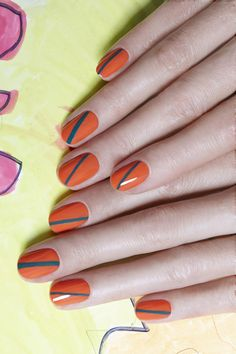 Stripe Nails by JINsoon | Sephora Beauty Board #Sephora #nailart
