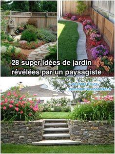 28 Super Idées de Jardin Révélées Par un Paysagiste. Backyard Renovations, Garden Online, Budget Patio, Garden Deco, Backyard Makeover, Gras, Garden Planning, Backyard Landscaping, Landscaping Ideas