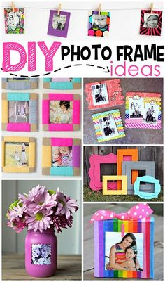 DIY Photo Frame Ideas - Great gift ideas that kids can make too! | CraftyMorning.com