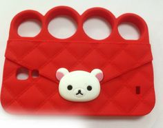 Silicone Teddy Bear Knuckle for Galaxy S4, iPhone 5S Case