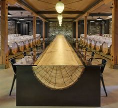 Amazing table design / wood/glass