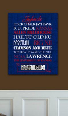 Kansas Jayhawks: Custom prints, via Etsy.
