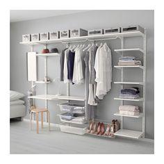Ikea Algot shelving for walk-in closet