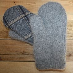 Wool Mittens Made From Recycled Sweaters Medium by MittenHeaven