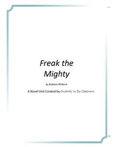 freak the mighty essay conclusion Freak the mighty essay outline  can you offer a thought-provoking conclusion to sum up your essay california common core state standards/literature.