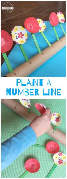 ? Plant a Number Line to 10 Math Craft for Preschoolers