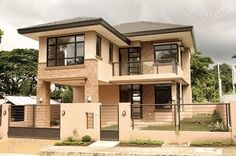 Modern 2 Bedroom House Plans Lovely 2 Storey Modern asian Designed House with 4 Bedrooms Two Story House Design, 2 Storey House Design, Two Storey House, Small House Design, Modern House Design, Filipino Architecture, Modern Architecture, Architecture Photo, Modern House Plans