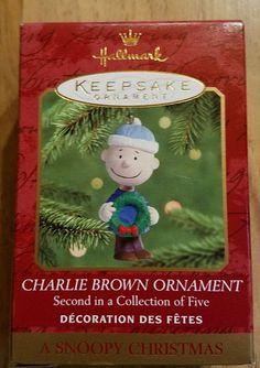 "2000 Hallmark ""Charlie Brown Ornament"" 2nd in Series"