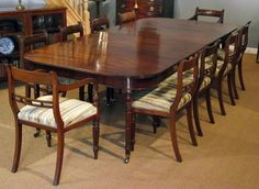 Georgian dining table and chairs
