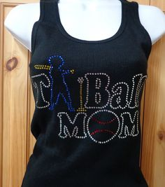TBall Mom Rhinestone Shirt