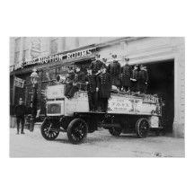 Antique Fire Truck, 1910s Print