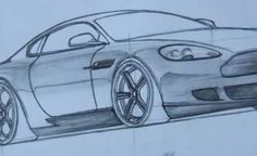 How to draw a Car 3D Step by Step HD - Aston Martin - Video Lessons of Drawing & Painting