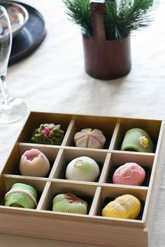Japanese sweets, Wagashi would be cool to 3d model and then make a neonmob set!